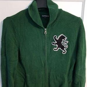 Express Brand knit zip up cardigan